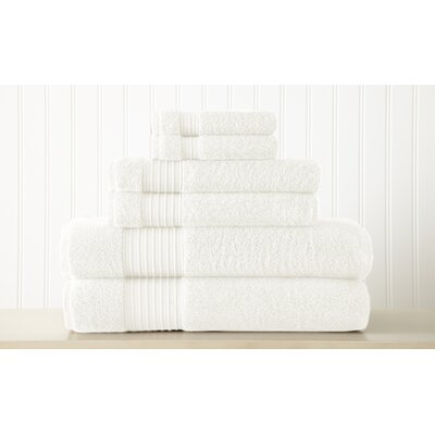 Adalrik 100% Turkish Cotton 6 Piece Towel Set Color: White