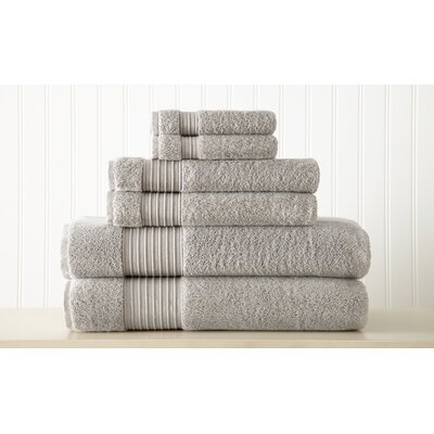 Adalrik 100% Turkish Cotton 6 Piece Towel Set Color: Gray