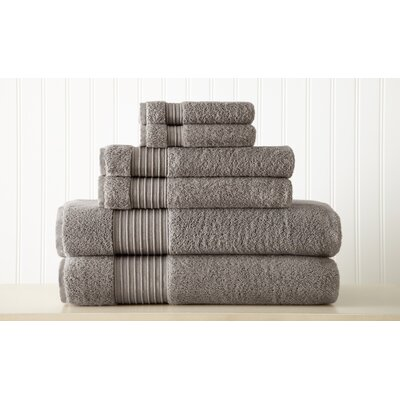Adalrik 100% Turkish Cotton 6 Piece Towel Set Color: Platinum