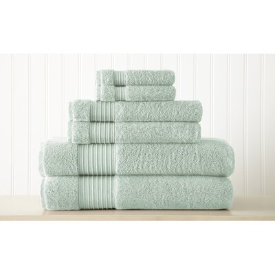 Adalrik 100% Turkish Cotton 6 Piece Towel Set Color: Aqua