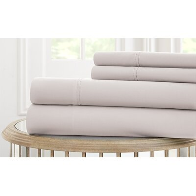 Garrett 800 Thread Count 4 Piece Sheet Set Size: Full, Color: Gray