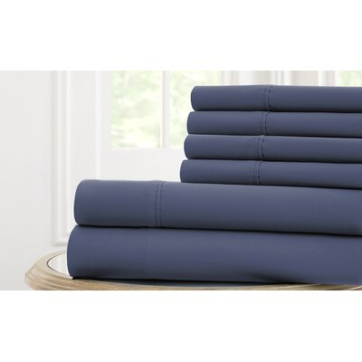 Langleyville Nanotex Cool Comfort Sheet Set Size: California King, Color: Blue Hill