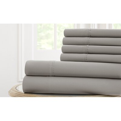 Langleyville Nanotex Cool Comfort Sheet Set Size: Queen, Color: Gray
