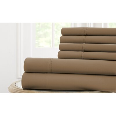 Langleyville Nanotex Cool Comfort Sheet Set Size: King, Color: Mocha
