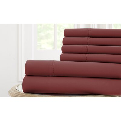 Langleyville Nanotex Cool Comfort Sheet Set Size: Full, Color: Plum Violet