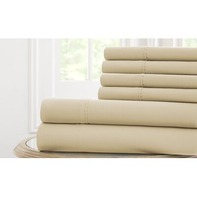 Langleyville Nanotex Cool Comfort Sheet Set Size: California King, Color: Parchment