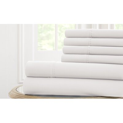 Langleyville Nanotex Cool Comfort Sheet Set Size: King, Color: White