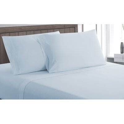 Carlinville 100% Cotton Sheet Set Size: Full, Color: Blue