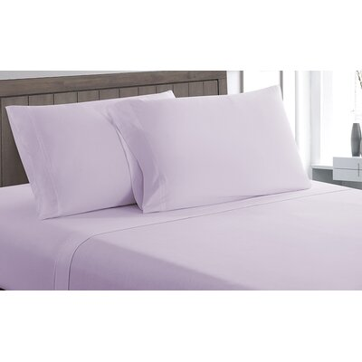 Carlinville 100% Cotton Sheet Set Size: Twin, Color: Purple