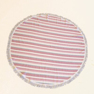 Dyed 100% Cotton Beach Towel Color: Pink