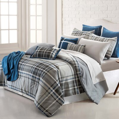 Allenspark Plaid 16 Piece Reversible Bed-In-a-Bag Set Size: Queen