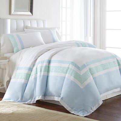 Highland Dunes Baylis 100 percent Cotton 3 Piece Reversible Duvet Set Size: Queen