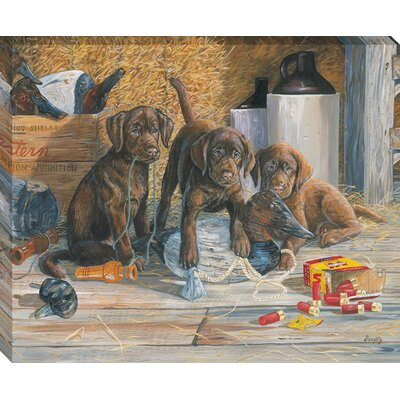 'Caught in the Act' by Terry Doughty Framed Painting Print on Wrapped Canvas 3123-1822
