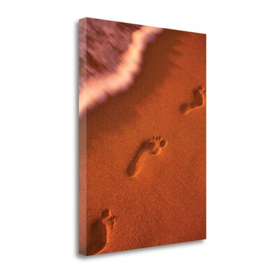 'Footprints' by Dennis Frates Graphic Art on Wrapped Canvas SBDF2402-1824c