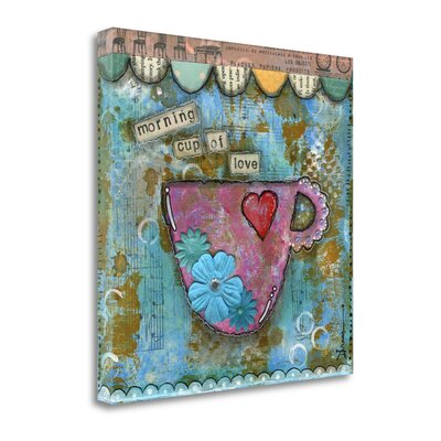 'Morning Cup of Love' by Denise Braun Graphic Art on Wrapped Canvas SBBD1026-1818c