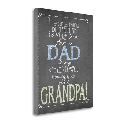 'Dad Grandpa' by Jo Moulton Textual Art on Wrapped Canvas SBJM10775-1620c