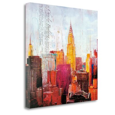 'The City That Never Sleeps II' Graphic Art Print on Wrapped Canvas CA316325-2020c