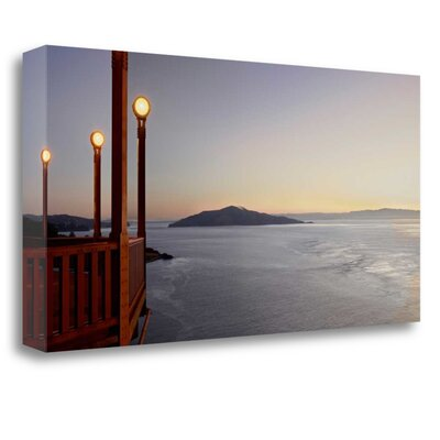 'San Francisco Cafe Pano - 1' Print on Wrapped Canvas ICABSFH12-3412c