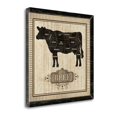'Beef' Graphic Art Print on Canvas BAPB26275-2323c