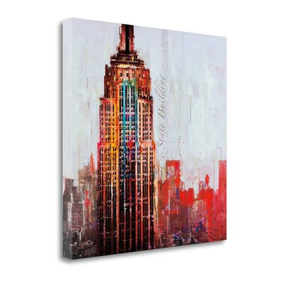 'The City That Never Sleeps I' Graphic Art Print on Wrapped Canvas CA316324-2525c