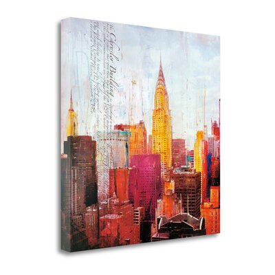 'The City That Never Sleeps II' Graphic Art Print on Wrapped Canvas CA316325-2525c