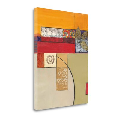 """'Golden Day II' Print on Wrapped Canvas Size: 38"""" H x 28"""" W CATCP123-2838c"""