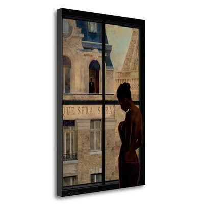'Parisien Affairs IV' Framed Oil Painting Print on Wrapped Canvas Size: 29