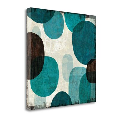 'Blue Drips I' Graphic Art Print on Canvas Size: 20