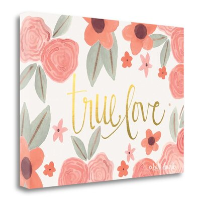 'True Love' Acrylic Painting Print on Wrapped Canvas