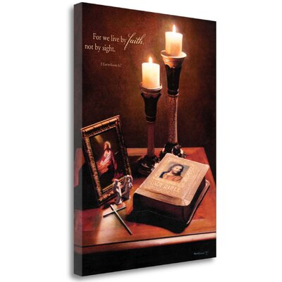 'Faith' by Kevin Daniel Framed Photographic Print on Wrapped Canvas Size: 26