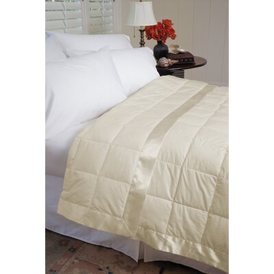 Gervais 100% Cotton Blanket Size: Twin, Color: Ecru