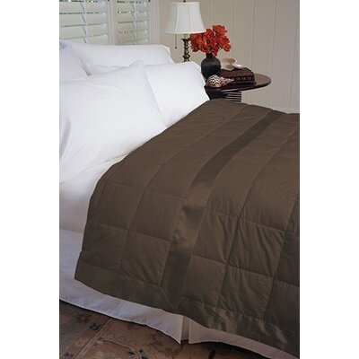 Gervais 100% Cotton Blanket Size: Full/Queen, Color: Chocolate