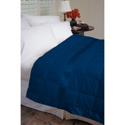 Gervais 100% Cotton Blanket Size: Twin, Color: Midnight