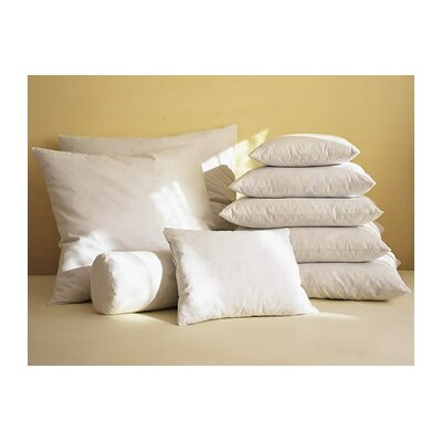 White Pillow Insert Size: 20 H x 20 W