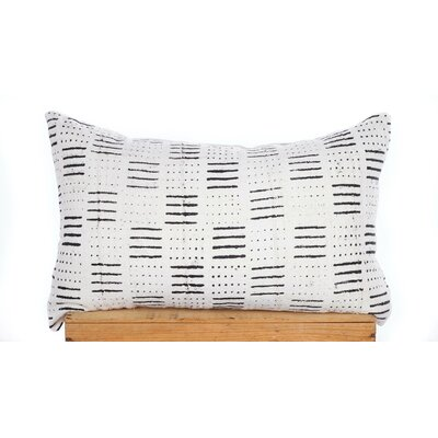 Dots and Dashes Print African Mud Cloth Pillow Cover