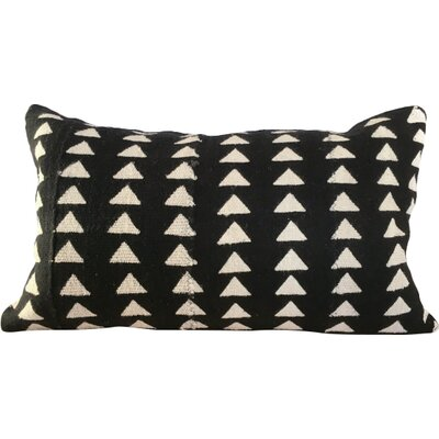 Triangle Print Mud Cloth Pillow Cover
