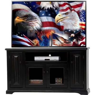 Deluxe TV Stand Finish: European Burnt Black