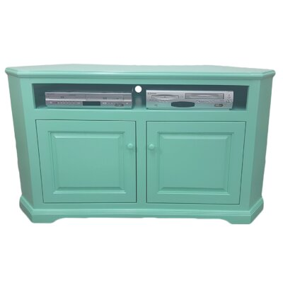 Poplar Corner 57 TV Stand Color: Aquamarine