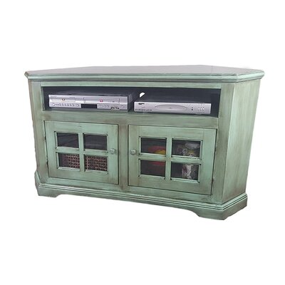 Poplar Curve Corner TV Stand Finish: European Green