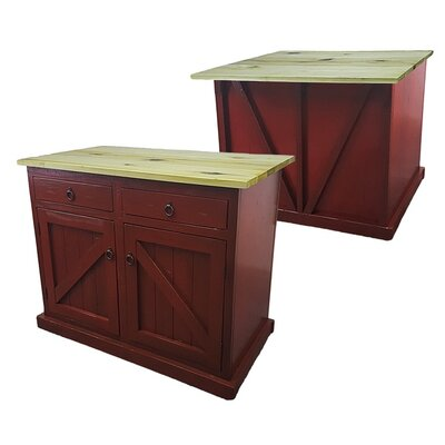 Rustic Kitchen Island Base Finish: Rustic Dark Blue