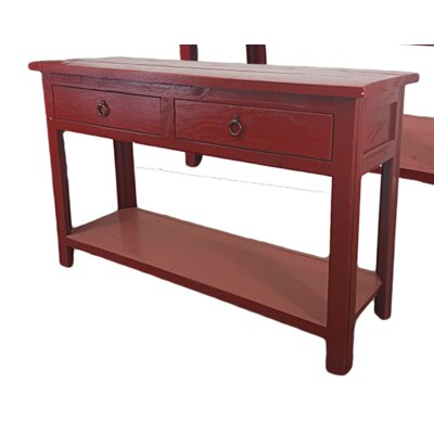 Rustic Console Table Finish: Rustic Red