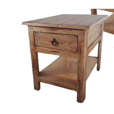 Rustic End Table Finish: Rustic Aquamarine