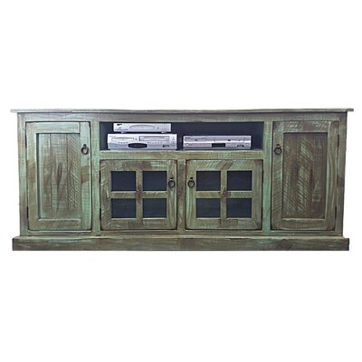 Rustic 82 TV Stand Color: Rustic Light Blue