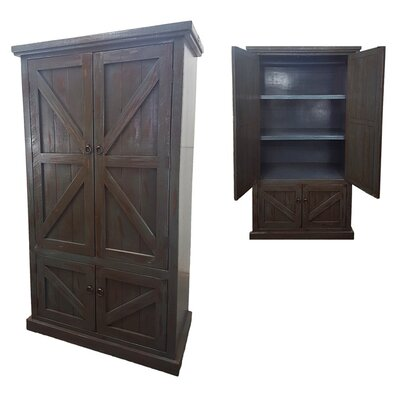 Rustic Double Door Armoire Finish: Rustic Antique Black