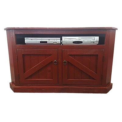 Rustic Corner 57 TV Stand Color: Rustic Red