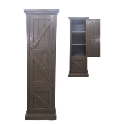 Rustic Single Door Armoire Finish: Rustic Aquamarine
