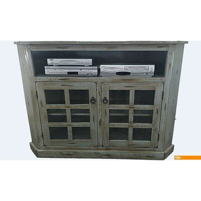 Rustic Corner 57 TV Stand Color: Rustic Aquamarine
