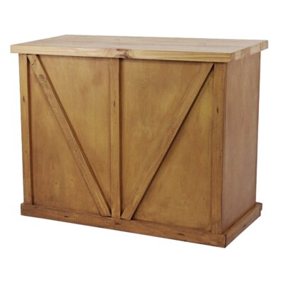 Uli Wood Kitchen Island with Butcher Block Top Base Finish: Yellow