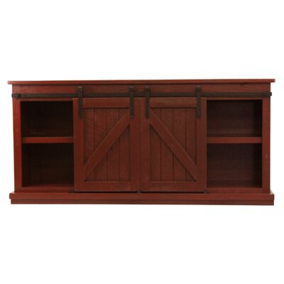Mihika 68 TV Stand Color: Red