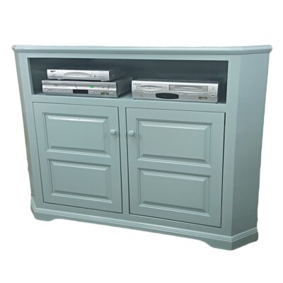 Poplar Corner 57 TV Stand Color: European Aquamarine